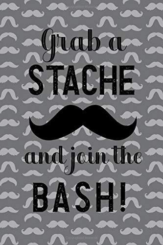 in The Bash!: Blank Lined Notebook ( Mustache )  (Grey) ()
