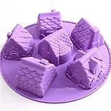 Depory pane torta padelle per lavastoviglie e microonde silicone antiaderente muffa del ghiaccio per bambini party e cottura 1PCS