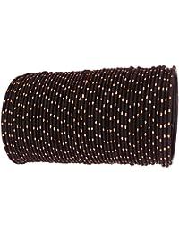 Beautiful & Elegant Golden Zari Dot Pattern Designer & Glossy Metal Bangle Set For Women & Girls On Wedding &...