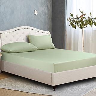 FHFGHYURBNYFGHFBY Baumwoll-Bogen/Single Piece Cotton Pure Color tagesdecke/Protector/matratzenbezug-A 180x200cm(71x79inch)