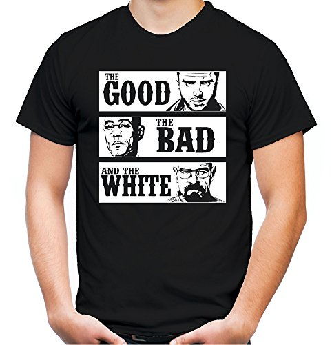 The Good The Bad and The White Männer und Herren T-Shirt | Spruch Walter Heisenberg Geschenk (XL, - Breaking Bad Meth Kostüm