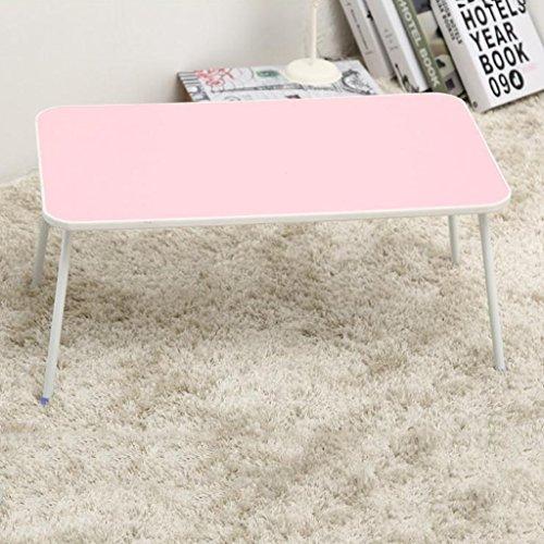 Verstellbare Laptop Bett Tisch, Bett Tablett Tisch, tragbare Stehpult, mit faltbaren Beinen, faltbare Sofa Frühstückstisch, Notebook Stand lesen Halter für Couch Boden (L57cm * W34cm * H28cm) ( Farbe : - Pink Kaffee-tisch-bücher