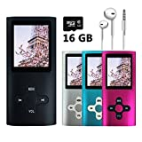 topfronce 16GB Ultra Slim Musik Player MP3MP4Player Audio Player E-Book Reader Video Player Flash Disk