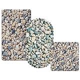 casa pura® Wanneneinlage Stone | helle Steinoptik | schadstoffgeprüft | als Badewanneneinlage und Duschmatte erhältlich | 3 Größen | oval (69x36 cm)