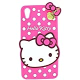 Rapid Zone Cute Hello Kitty Back Cover For Oppo A37 - Pink
