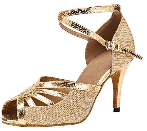 Pcp, Senhoras Sapatos De Dança De Ouro (sola Interior)