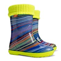 Demar Girls Wellington Boots Rainbow HLP-AH