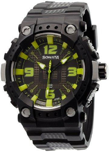 Sonata Ocean Series II Analog Multi-Color Dial Men's Watch - 77014PP03J