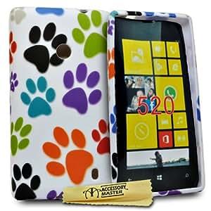 Accessory Master Coque en silicone pour Nokia Lumia 520 Pattes de Chats