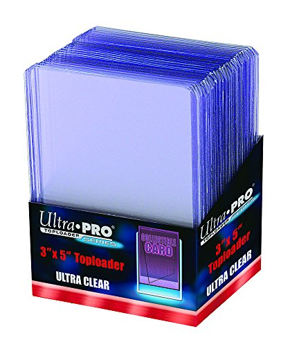 25 Ultra Pro Tall Cards Widevision Toploader - Ultra Clear - Top Loader - 3