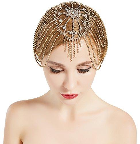 band Damen Haar Kette Gatsby Kostüm Accessoires 20er Jahre Flapper Blinkendes Haarband (Flapper 20er Jahre Kostüme)
