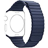 Genuine Leather Band Watch for Apple iwatch, Leather strap Replacement for Apple Watch all ...