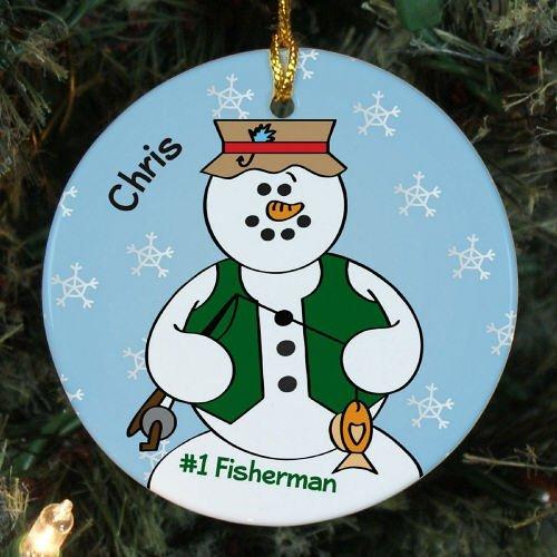 erman Schneemann rund Weihnachten Ornament Andenken Xmas Tree Dekoration Hochzeit Jahrestag Geschenk Weihnachtsbaum Geschenk Idee ()
