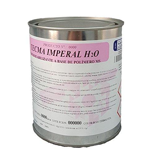 Impermeabilizante para tejados,cubiertas, terraza, balcones en base a MS polímero TECMA IMPERAL H2O color Terracota; Envase 1 Kg