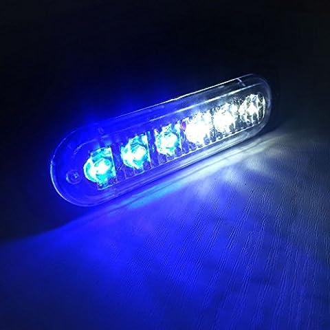 anzene niversal 6LEDs Auto Truck Warnung Vorsicht Notfall Konstruktion Strobe LED LIGHTBAR