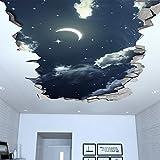 Tapete 3D Effekt (130 x 72 cm, Nachthimmel 3D Effekt Decke)