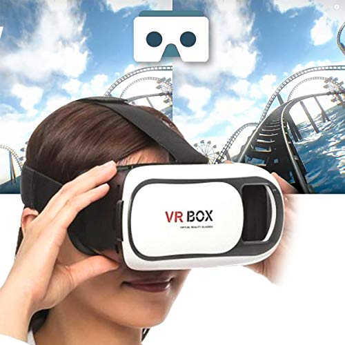 Natation 3D Virtual Reality 360 Degree Rotatable Box 4Th Generation Glasses for Video Games and Hd Movies Experience for Redmi 6, Honor, iPhone and Other Smartphones