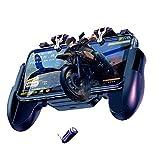 Mamun Controlador de Juegos móvil Tirador Sensible y Objetivo Joysticks Gamepad Handle For PUBG (Negro)