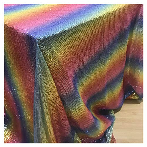 Rainbow Pailletten Tischdecke 152,4 x 304,8 cm Bling Home Decor Rainbow Party Dekorationen Home Table Decor CT0513