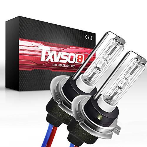 Sipobuy H7 55W HID bombillas de xenón faro lámpara de repuesto, Base de metal, 6000k blanco, 2pcs/set