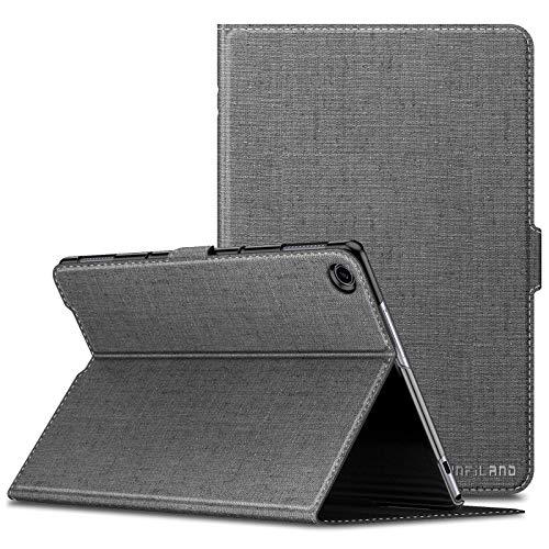 Infiland Huawei MediaPad M5 Lite 10 Funda Case, Super Delgada Soporte Frontal Cover con Auto Reposo/Activación Función para Huawei MediaPad M5 Lite 10,1 Pulgadas 2018 Tablet PC,Gris
