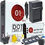 DOT-01 Brand Olympus TG-Tracker Battery And Charger For Olympus TG-Tracker Camera And Olympus TG Tracker Accessory Bundle For Olympus LI92B LI-92B