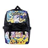 Bonamana Cartoon Pokemon Pikachu Rucksack Anime Schultasche Rucksack für Teens (C)