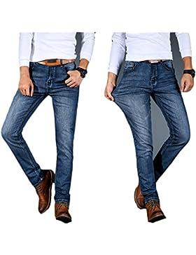 [Patrocinado]LIEBE721 Hombres Pantalones Pantalones largos Mezclilla Derecho Ajuste regular Algodón Clásico Tramo Casual Ropa...
