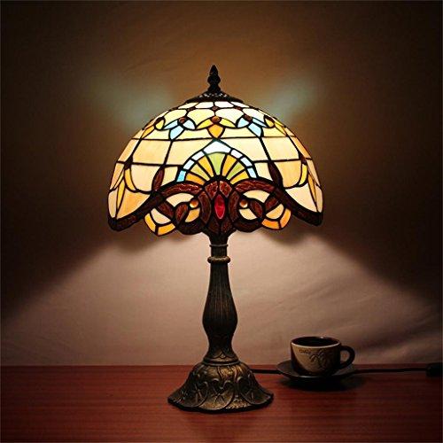 Gweat-Tiffany 12-Inch baroque européenne Lampe de table Chambre Lampe Lampe de chevet