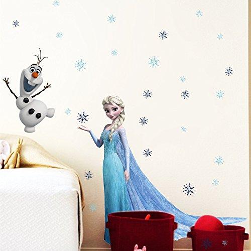51VquSGyuCL - Kibi Stickers Infantiles Frozen Adhesivos Pared Decorativos Pegatinas De Pared Frozen Para La Habitación Niños Decoración De Pared Dormitorio Bebe Pegatinas De Pared Extraíble
