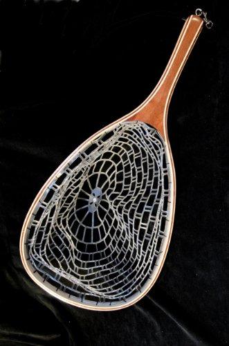 Stone Creek Ghost Net aus Holz mit Gummi Net–Fliegenfischen (Creek Net)