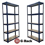 risolvere il mess with g-racks scaffale leader di mercato system. facile slot together senza bulloni o viti e abbastanza stabile per far fronte a una massiccia thats 175 kg su ogni ripiano, 875 kg per Bay. Tutti gli articoli sono forniti con Power Pa...