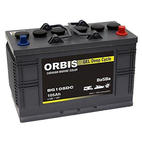 BaSBa Gel BG105DC Versorgungsbatterie Solarbatterie Deep Cycle 105Ah 12V c100