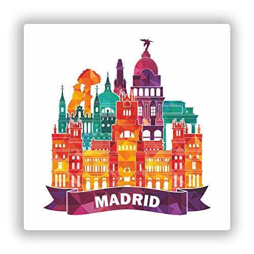 2x Pegatinas vinilo Madrid Skyline viaje
