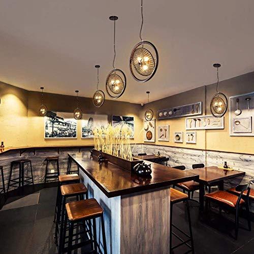 W-LI Vintage Pendent Lampe Loft Hängelampe Industrielle Pendelleuchte Kreative Hängelampe Metall Eisen Fan Lampenschirm Kronleuchter Deckenleuchte für Bar Restaurant Kaffee Dekoration Beleuchtung -