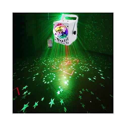 ACZZ Led Disco Stage Party Lichter, Projektor Led Stage Light Disco Ball mit Musik Strobe Light von Fernbedienung Ideal für Dancing Club Bar Pub Lighting -607,Weiß