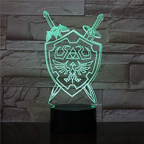 Nachtlicht Tischlampe Wildnis visuelle Illusion