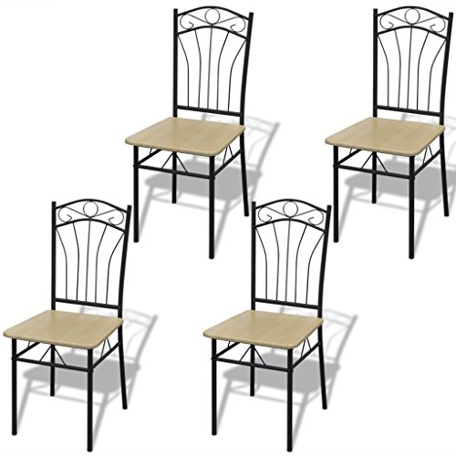 vidaxl-set-of-4-light-brown-steel-frame-dining-chairs