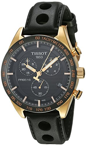 TISSOT MEN'S 42MM LEATHER BAND STEEL CASE QUARTZ WATCH T100.417.36.051.00