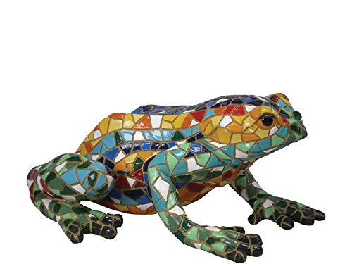 Figur Frosch mehrfarbig Mosaik in der Kollektion TRENCADIS Antonio Gaudí (Figur Frosch-sammler)
