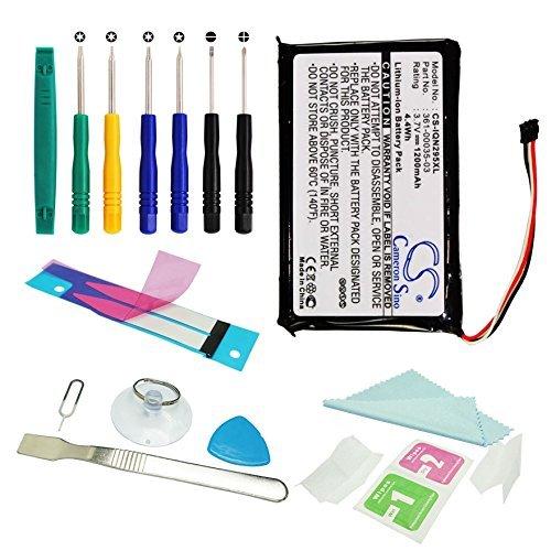 CS GPS Akku 1200mAh Passend für Garmin Nuvi 2555LMT 2555LT 2495LMT 2475LT, ersetzt Garmin 361-00035-03 361-00035-07 mit Werkzeugsatz