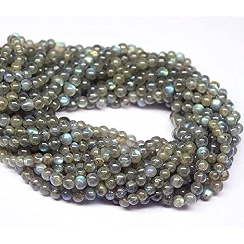 jennysun2010rotonda, pietre naturali, perline, 2mm, 3mm, lunghezza 15,5cm (38.5cm) 1Strand per borsa per braccialetto collana orecchini gioielli artigianato design guarigione, Labradorite, 3 mm