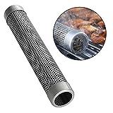Quici 30,5cm ronde BBQ Smoker Tube à granulés de bois Grill Hot Générateur de fumée froide de fumer en maille Tube Tuyau