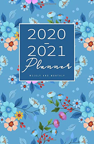 """2020-2021 Weekly And Monthly Planner: Calendar Schedule, Squares Quad Ruled Notes, Dot Notes, No Holiday, Flowers Floral (January 2020 through December 2021) Pocket Size 5.25"""" x 8"""""""