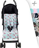 Sitzauflage Universal für Kinderwagen Janabebe® + Schutz Kabelstränge (Crabby)