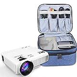 Luxja Beamertasche für QKK Mini Beamer, Tragbar Projektor Tasche für DR.Q Projektor und Zubehör (Blau)