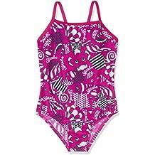 Speedo Girls 'mareas Idol Essential Frill–Bañador infantil (1pieza), niña, color Electric Pink/Navy/White, tamaño 2 Años