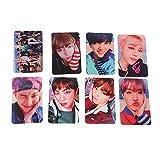 Bellenne 8 Stück BTS Mini Fotokarten Postkarte Lomo Karten | Jungkook, Jimin, V, Suga, Jin, J-Hope, Rap Monster | Sammlung und Beste Geschenk für The Army (WINGS)