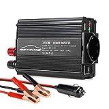 ISSYZONE Spannungswandler Wechselrichter 350W DC 12V auf AC 220V Power Inverter Converter Schwarz