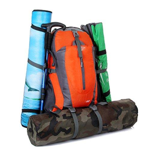 LQABW Klettern Wandern Reiten Wasserdicht Große Kapazitäts-Männer Und Frauen Doppel-Rucksack Outdoor-Zubehör Tasche 40L Green
